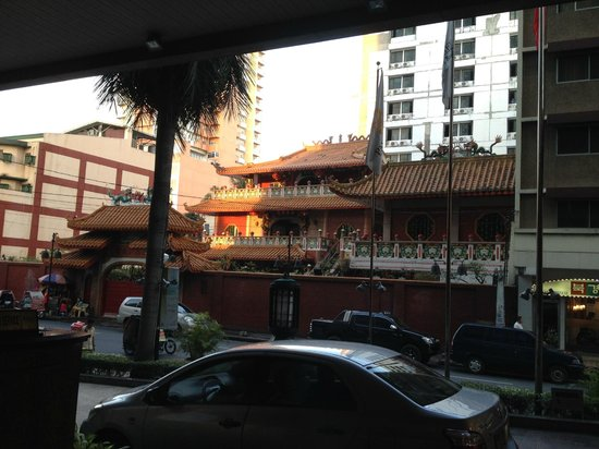 Pan Pacific Manila: Tao Temple opposite the Hotel