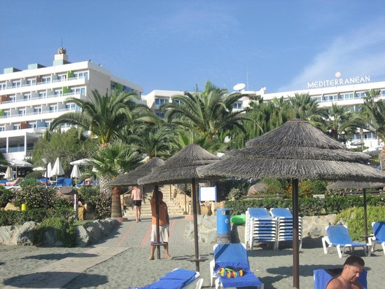 Mediterranean Beach Hotel: View from the beach