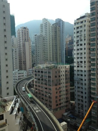 Hotel Jen Hong Kong: view from backside of hotel