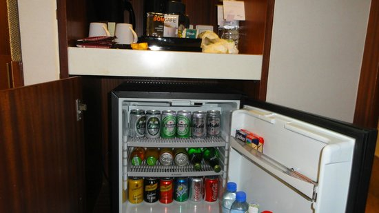 Royal Orchid Sheraton Hotel & Towers : The in room mini bar...