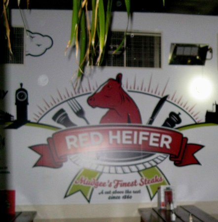 The Red Heifer, picnic tables and all.