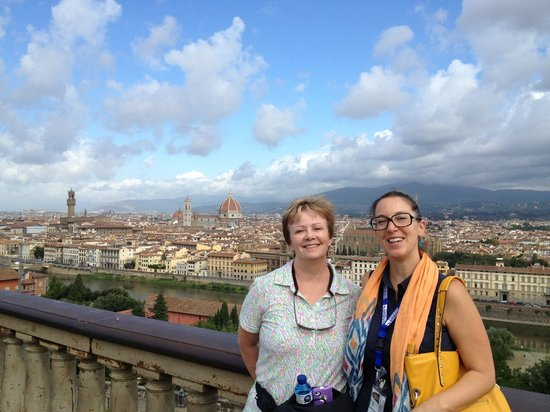Guided Tours of Florence: Tatiana and I at Piazza Michelangelo
