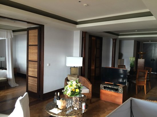 The Legian Bali: The big deluxe suite, entrance and living room