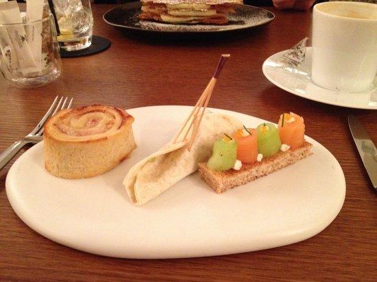 Prince de Galles Hotel: Le trio de sandwich a la pause thé Time