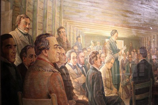 Star of the Republic Museum : Museum of the Republic - Painting of the Signing of the Declaration of Independence