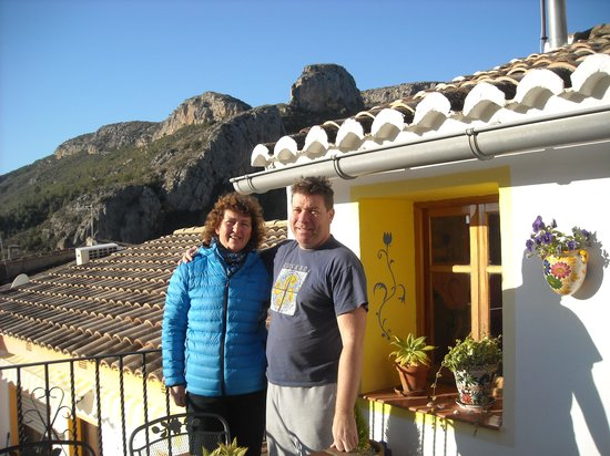 La Casa Serena: with one of the lovely owners