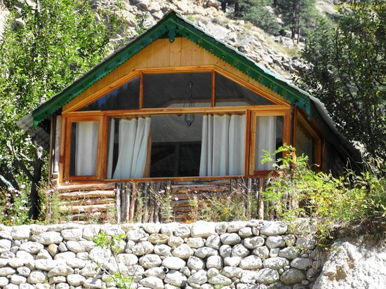 Banjara Camp &  Retreat - Sangla Valley Camp: view from river side