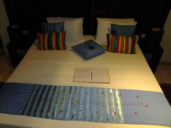 Cap Jean Marie Beach Villas : Last night bed