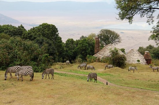 andBeyond Ngorongoro Crater Lodge: Magical view towards the Craer