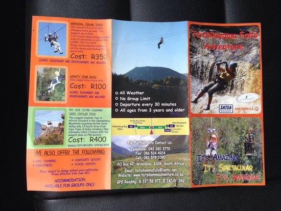 Tsitsikamma Falls Adventures: Folder 2