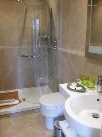 Fonab Castle Hotel: Bathroom, loved the shower!