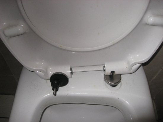 Tricky toilet seat  - Picture of The Italian Connection