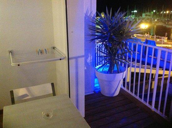 Résidence Bleu Mer : terrasse de la chambre vue mer