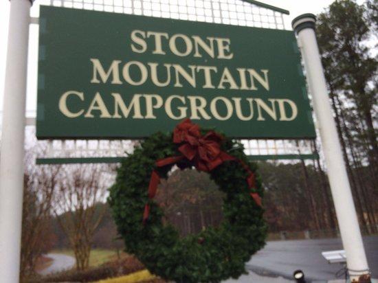 Stone Mountain Family Campground : Entrance to CG