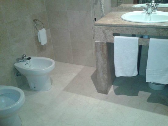 Hotel Benetusser: Spaziosa toilette