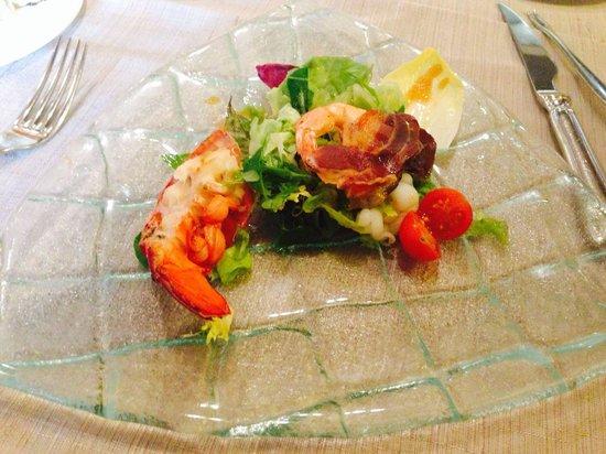 Arroka Berri: Ensalada de bogavante