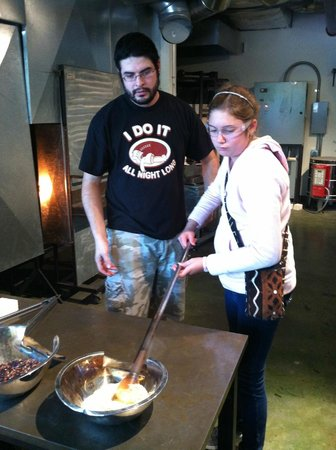 Studio West Glassblowing Studio and Gallery : keeping a close eye on the glass