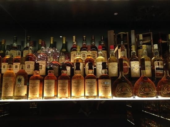Amber Restaurant at the Scotch Whisky Experience: selection of whisky...