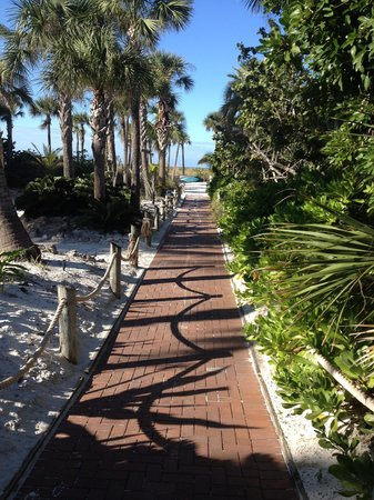 Tropical Beach Resorts: Walkway to beach