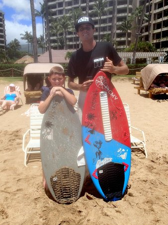 Skim Hawaii: 9-year-old student Matthew B enjoying his lesson.