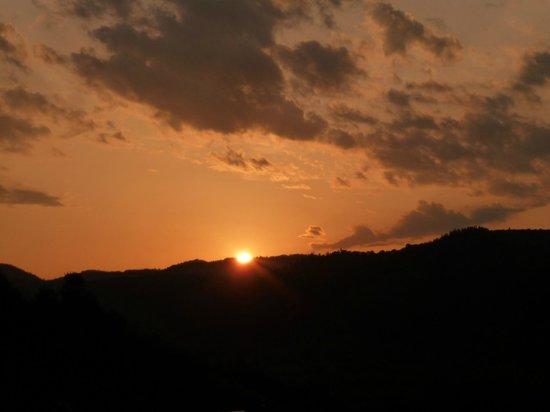 Casa Elena: sunset view from balcony