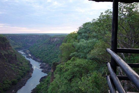 Gorges and Little Gorges Lodge : Vista dalla terrazza della camera...