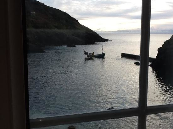 The Lugger Hotel: Rush hour in Portloe.