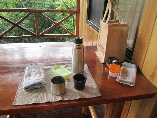 Tree Houses Hotel Costa Rica: Coffee on the porch every morning