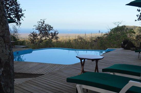 Galapagos Safari Camp: The small pool has amazing views to the ocean