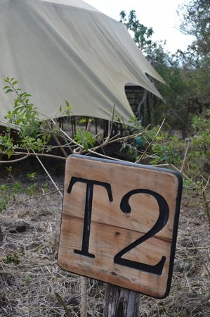 Galapagos Safari Camp: Each tent has its own wooden market...