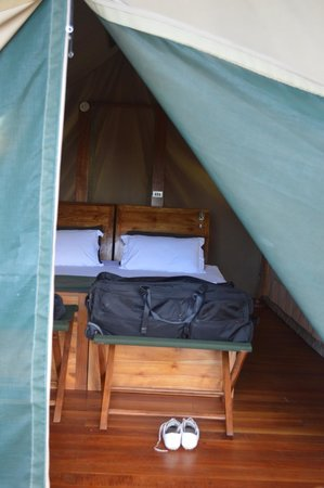 Galapagos Safari Camp: the tents have 2 layers - the second helps to insulate the inside at night