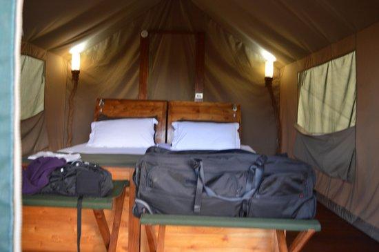 Galapagos Safari Camp: Inside of the tent