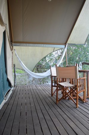Galapagos Safari Camp: Each tent has its own  veranda with brillant vistas