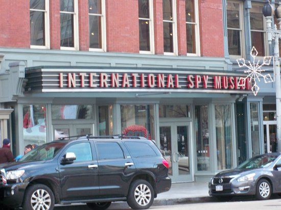 Entrance to the International Spy Museum