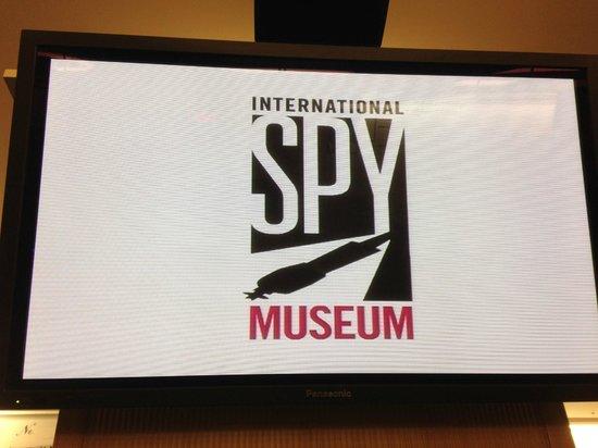 International Spy Museum: Display on video intro inside the museum