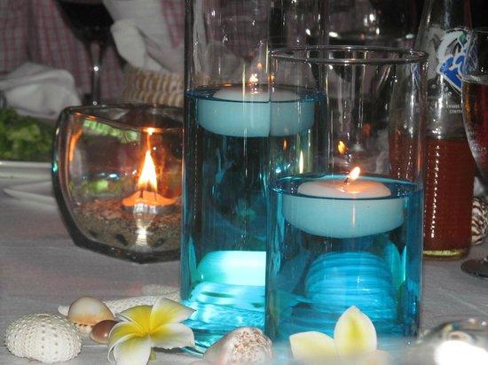 The Beach Club: table setting