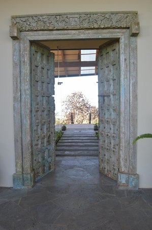Galapagos Safari Camp : The view as you enter GSC through the main lodge door (from a christian monestary in India)
