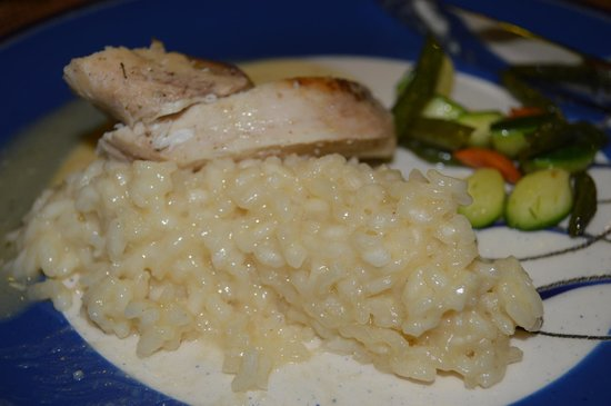 Galapagos Safari Camp : Risotto with chicken and veg, seconds can always be gotten.