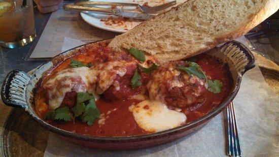 St. Francis: Slightly spicy meatballs from happy hour... soooooo good!