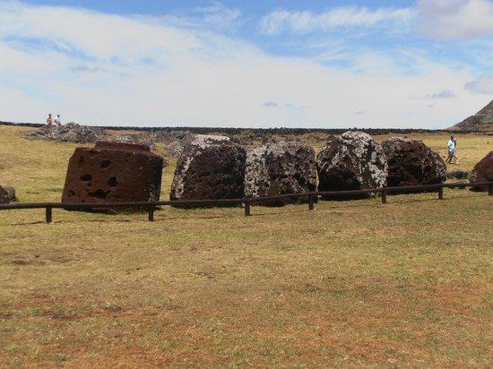 Ahu Tongariki: los tocados esparcidos