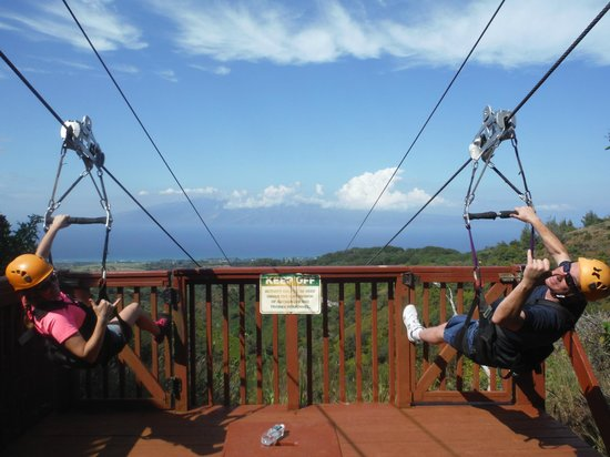 Kapalua Ziplines : Get ready...Here we GO!!