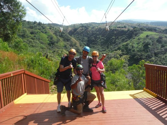 Kapalua Ziplines : Trevor, Vee and the Leahy's