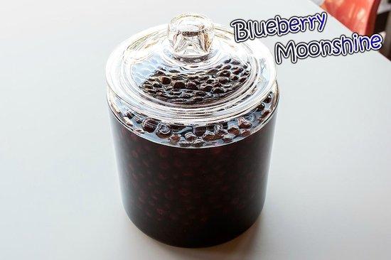 Bullpen Rib House: In-House Made Blueberry Moonshine