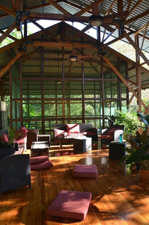 The Sanctuary at Two Rivers: The yoga studio (doubled as movie theater) is truly inspiring