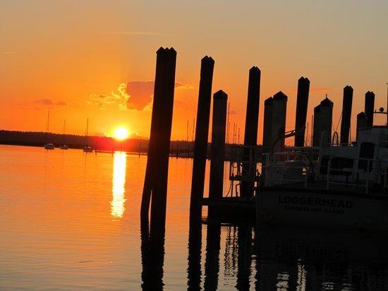 St. Marys, GA: Sunset at St. Mary's, GA