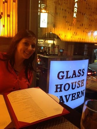 Glass House Tavern : Table over looking the street.