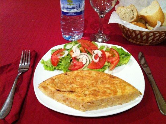 Restaurante Hotel Bema: Tortilla de patatas