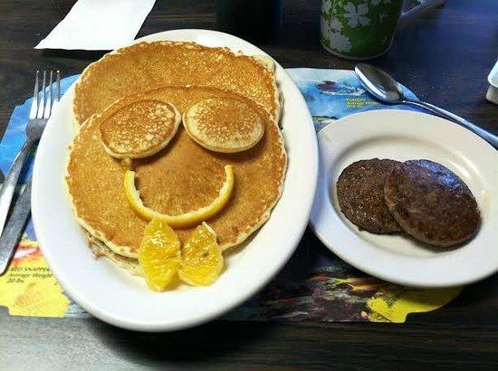 Sharon's Cafe: Sharon's 2 Pancakes & Sausage Patties