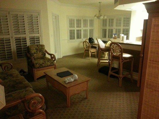 WorldMark Kingstown Reef : Kitchen, dining room, living room
