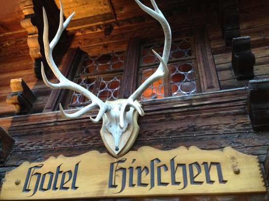 Gasthof Hirschen: La entrada al chalet
